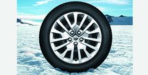 17-inch Winter black steel wheel package with quality tire
