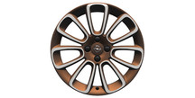 Alloy Wheel 7J x 17, Roulette - Copper & Diamond Cut White my Fire