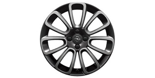 "Lichtmetalen velg ""Roulette"", 17-inch, diamantgeslepen, High-Gloss Black"
