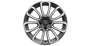 "Lichtmetalen velg ""Roulette"", 17-inch, diamantgeslepen, Technical Grey en White my Fire"