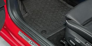 Floor Mats, All Weather - Jet Black