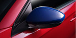 Blue Exterior Mirror Cover