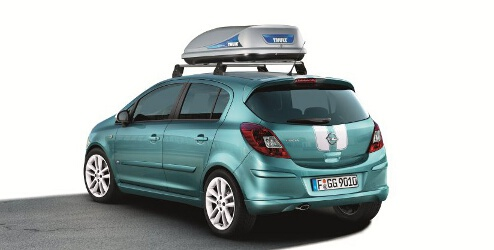 opel corsa d 5 t rer zubeh r thule dachbox ocean 80. Black Bedroom Furniture Sets. Home Design Ideas