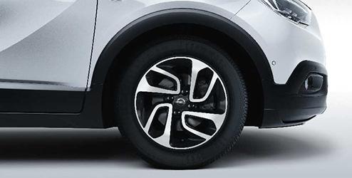Opel Crossland X Accessories Leichtmetallrad 16 Zoll 4 Doppelspeichen Design Silber