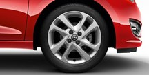 Alloy Wheel 16 inch - 4-double-spoke - Silver